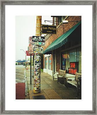 Sam Phillips Sun Studios Framed Print