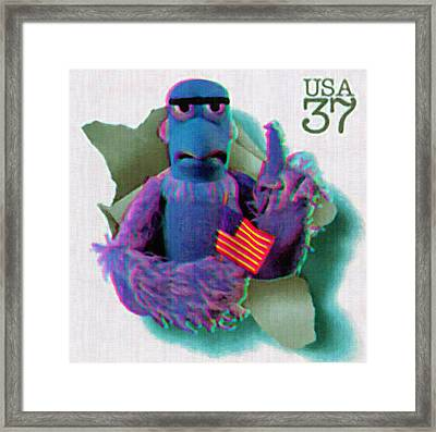 Sam The Eagle Framed Print by Lanjee Chee