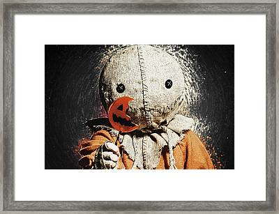 Sam - Trick R Treat Framed Print