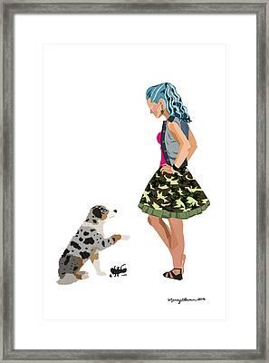 Framed Print featuring the digital art Samantha by Nancy Levan