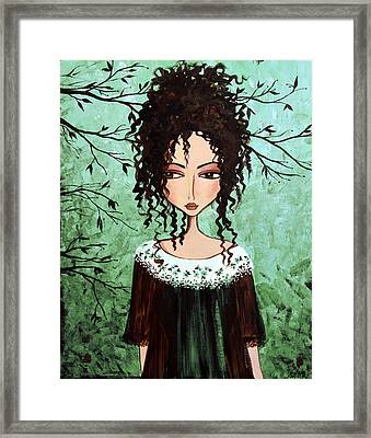Samantha's Chocolate Tree Framed Print by Debbie Horton