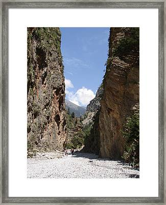 Samaria Gorge Framed Print by Jane Rix