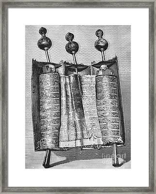 Samaritan Pentateuch Framed Print by Granger