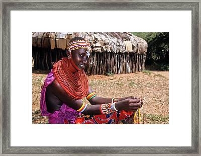Samburu Beauty Framed Print by Michele Burgess