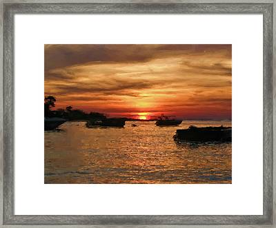 Samed Island Sunrise Framed Print