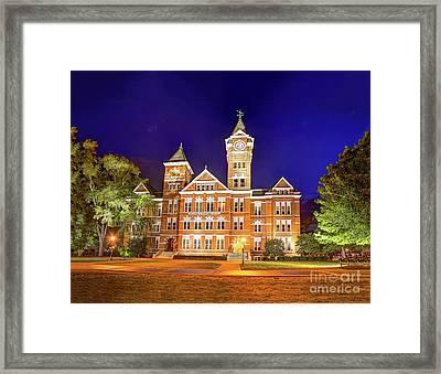 Samford Hall At Night Framed Print