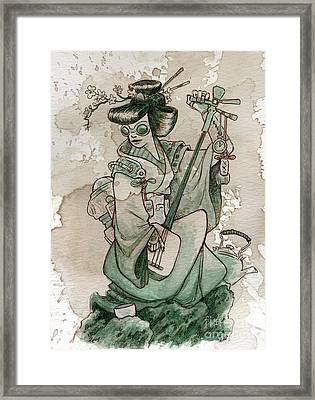 Samisen Framed Print by Brian Kesinger