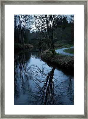 Sammamish River At Dusk Framed Print