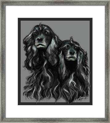 Framed Print featuring the digital art Sammy And Cloe by Thomas Lupari