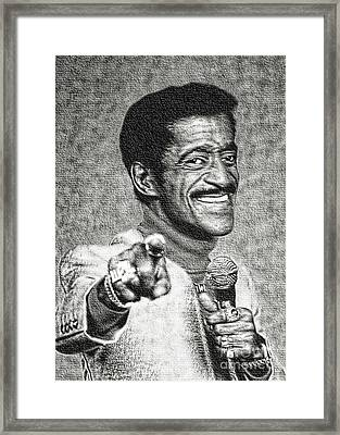 Sammy Davis Jr - Entertainer Framed Print