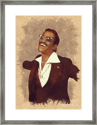 Sammy Davis Jr., Music Legend Framed Print