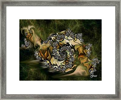 Sammy Snail Framed Print by Julie Grace
