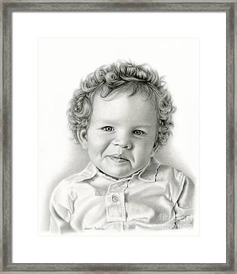 Sammy's Smile Framed Print