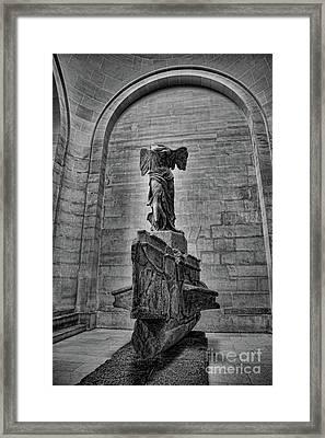 Samothrace Bw Framed Print