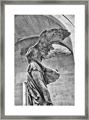 Samothrace Bw IIi Framed Print by Chuck Kuhn