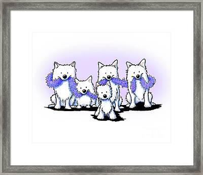 Sams And Westie Framed Print