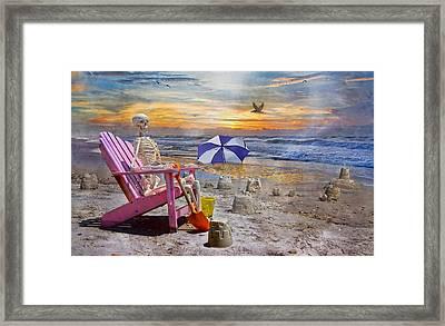 Sam's  Sandcastles Framed Print by Betsy Knapp