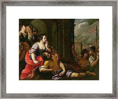 Samson And Delilah Framed Print by Giuseppe Nuvolone