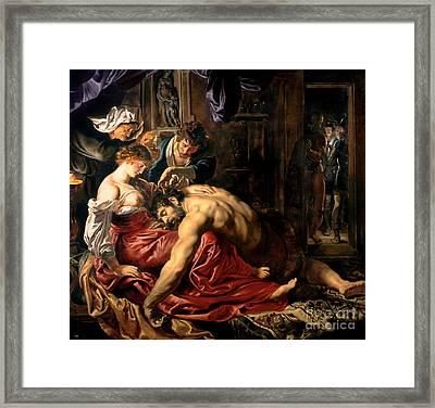 Samson And Delilah Framed Print by Peter Paul Rubens