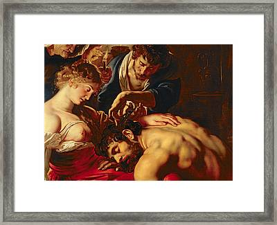 Samson And Delilah Framed Print by Rubens
