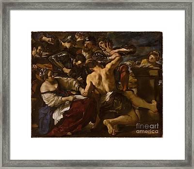 Samson Captured Framed Print by Celestial Images