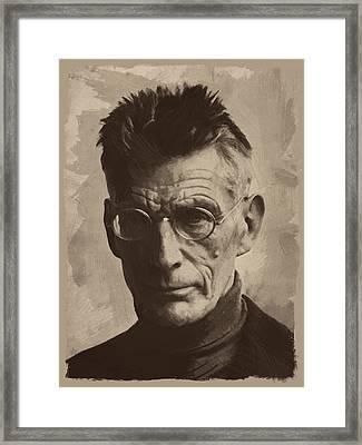 Samuel Beckett 1 Framed Print