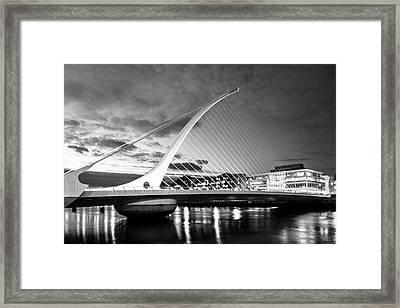 Samuel Beckett Bridge In Bw Framed Print