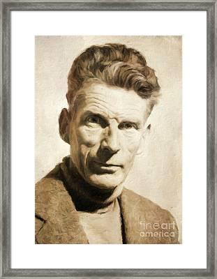 Samuel Beckett, Literary Legend By Mary Bassett Framed Print