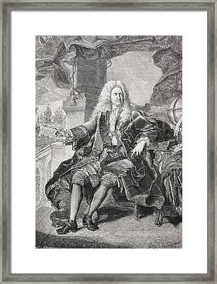 Samuel Bernard, 1651-1739, Count Of Framed Print by Vintage Design Pics