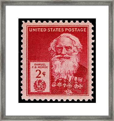 Samuel F B Morse Postage Stamp Framed Print by James Hill