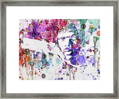 Samuel L Jackson Pulp Fiction Framed Print by Naxart Studio