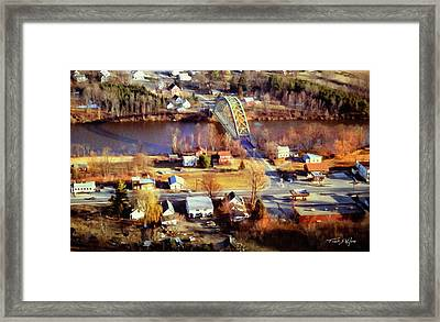 Samuel Morley Bridge Fairlee Vt To Orford Nh Framed Print by Frank Wilson