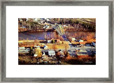 Samuel Morley Bridge Fairlee Vt To Orford Nh Framed Print