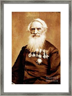 Samuel Morse, Inventor And Painter, By Mary Bassett Framed Print by Mary Bassett