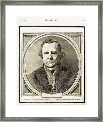 Samuel Wilberforce, Bishop Of Winchester Framed Print by Paul D. Stewart