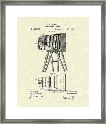 Samuels Photographic Camera 1885 Patent Art Framed Print