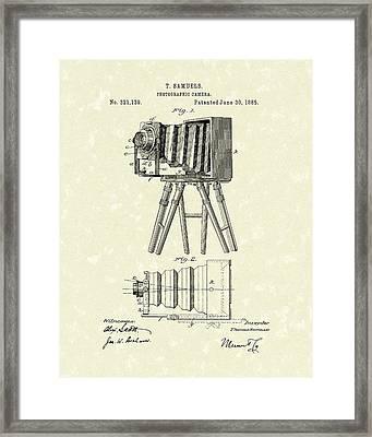 Samuels Photographic Camera 1885 Patent Art Framed Print by Prior Art Design