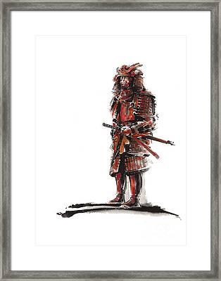 Samurai Armor Framed Print