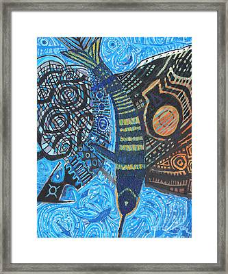 Samurai Del Mar Framed Print by Aldo Carhuancho herrera