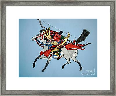 Framed Print featuring the painting Samurai Rider by Stephanie Moore