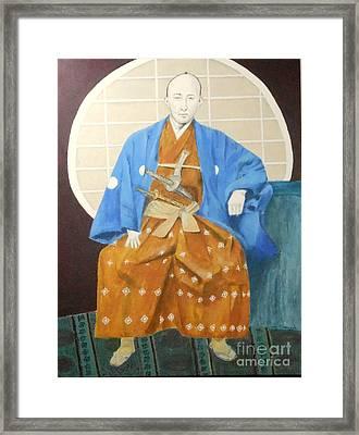 Samurai-san -- Portrait Of Japanese Warrior Framed Print