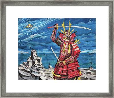 Samurai Sin-mint Framed Print