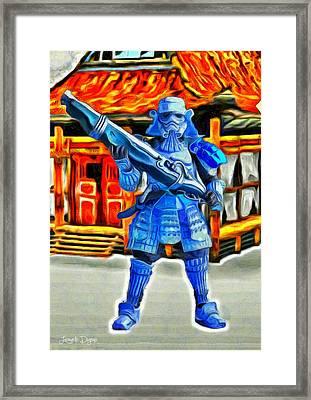 Samurai-trooper - Da Framed Print by Leonardo Digenio