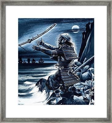Samurai Warrior Framed Print by Dan Escott