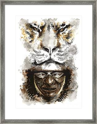 Samurai - Warrior Soul. Framed Print by Mariusz Szmerdt