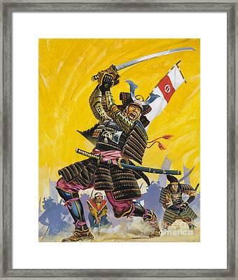 Samurai Warriors Framed Print by English School