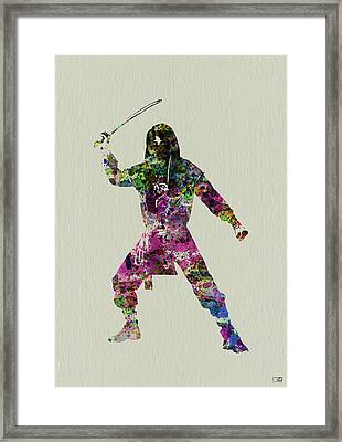 Samurai With A Sword Framed Print
