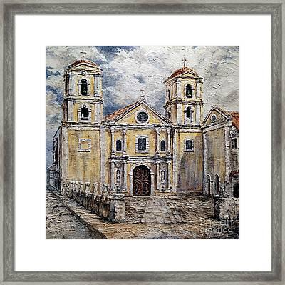 San Agustin Church 1800s Framed Print