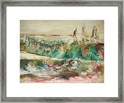 San Andreas Fault Line Framed Print by Edward Wolverton