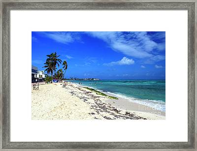 San Andres Island Beach View Framed Print by John Rizzuto